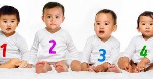Трите бебета са момчета а едно е момиче-Кое е то-Много хора не могат да го разпознаят!