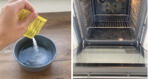 Домашна смес за отстраняване на мазнините без търкане. Почиствате фурната за 4 минути свети като нова