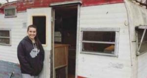 14-годишно момиче си купи стара каравана! Това което направи по-късно с нея накара всички да й се възхищават