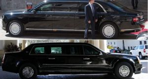 """""""Звяра"""" срещу Aurus: Сравниха лимузините на Байдън и Путин СНИМКИ"""
