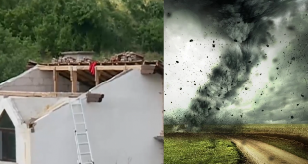 Нова: Торнадо край София помете къщи